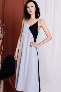 Fashmob Malone Maxi in Grey Black