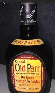 八十年代,老帕12年威士忌750mI。