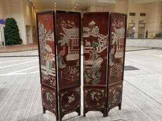 中國式屏風 4件