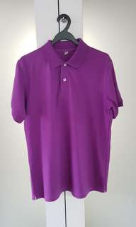 Purple Honeycomb Polo T from Uniqlo (L size)