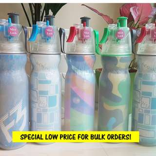 LOVED BY KIDS & ADULTS! Misting Spray Water Bottle 600ml! Comes in 5 unique colours!