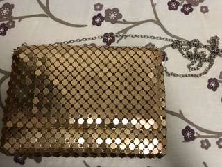 Gold bag for parties
