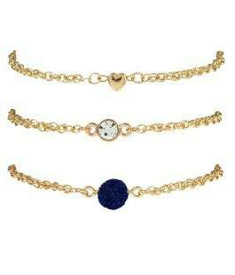 Fashionable Gold Blue Bracelete