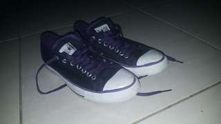 Black and purple converse allstar shoes