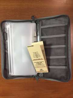 BNWT Muji Grey Passport Case Organiser