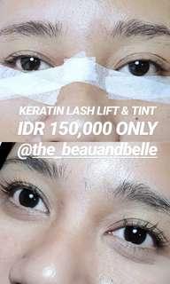 Keratin lash lift & tint @the_beauandbelle