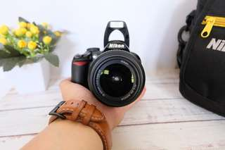 Kamera Nikon 3100 + Lensa Kit 18-55 mm Murah