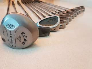 Genuine King Cobra II Tour Oversize Irons 3-9, P,S SW Steel Stiff, Driver and Putter