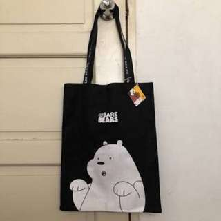 We Bare Bears Tote Bag Miniso