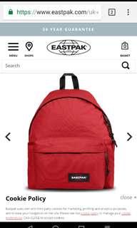 EASTPAK Backpack (Padded Pak'R - Apple Pick Red)