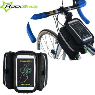Rockbros with Rainproof Cover Cycling Bike Bicycle Front Bag Tube Frame