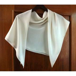 Japanese Cream Silk Scarf