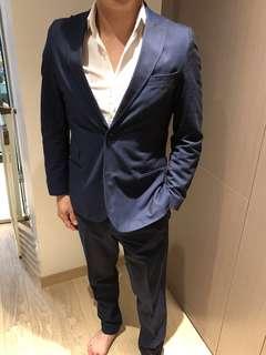 J linderburg blue suit