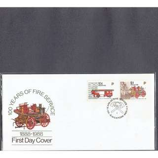 FDC  #335  100 Years of Fire Service  1888 - 1988
