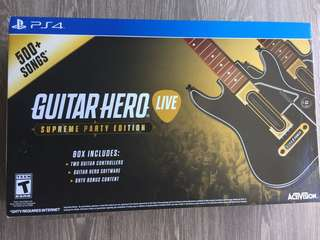 Guitar hero live for PS4 supreme party edition