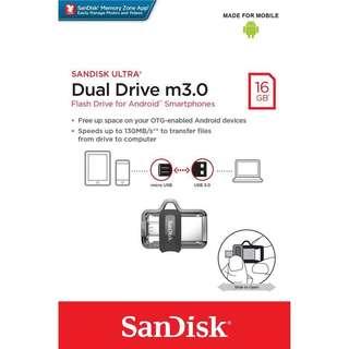 16GB Sandisk Ultra Dual Drive OTG M3.0