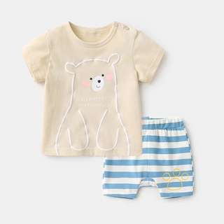 Smiley Bear Tee and Shorts in Set