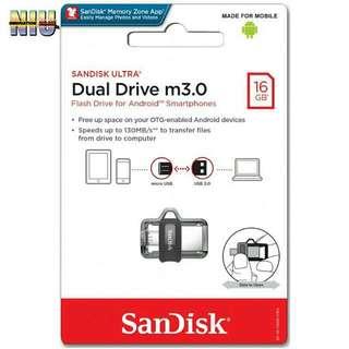 Sandisk Ultra Dual Drive M3.0 16GB OTG SDDD3-16GB with DOWNLOADS