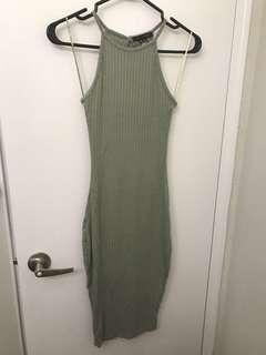 Sirens olive green bodycon dress