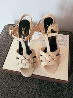 YSL Beige tribute sandal