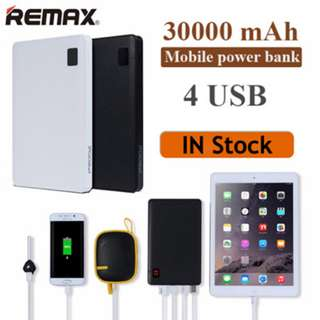 Authentic Remax Proda Powerbank 30000mAh with 4 outputs