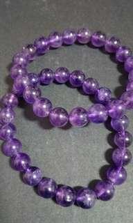 8mm Amethyst Bracelet 紫晶手串8mm