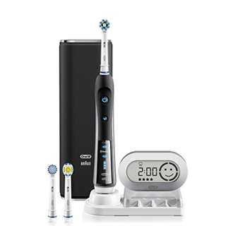 Electric Toothbrush, Oral-B black 7000 SmartSeries Electronic Power Rechargeable Toothbrush with Bluetooth Connectivity Powered by Braun