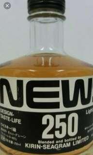 日本麒麟蒸餾所出品,News250威士忌250ml,no box.