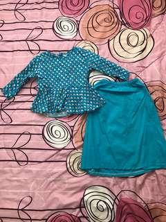 Peplum Baju Kurung For Girl