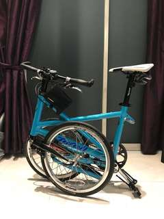 Tyrell FX Turquoise Foldable Bike