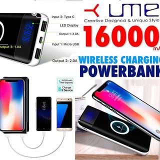 UME 16000mAh Wireless Charging High Cpacity Powerbank