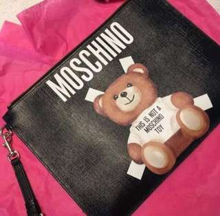 AUTHENTIC MOSCHINO Bear Clutch Case