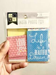 DCWV Pastel Journaling Cards