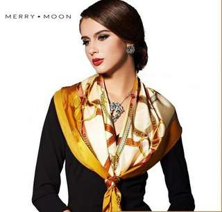 NEW! HERMES GOLD HIJAB & SCARF