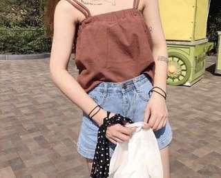 Red brick sleeveless top