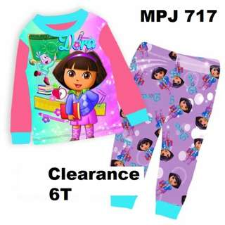 Clearance---  Dora Long Sleeve Pyjamas