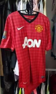 Nike Authentic Manchester United champions 20 gold fonts