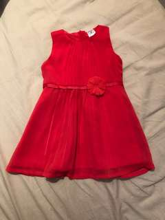Fuchsia pink baby girl dress