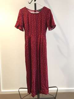 Princess Highway size 6 cherry karina jumpsuits