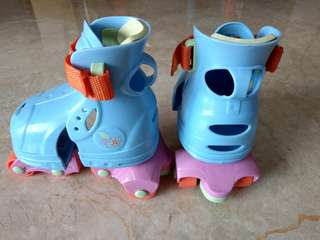 Attractive Barbie Roller Skates with Adjustable Length