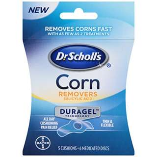 Dr Scholl's Duragel Corn Remover, 5 Cushions and 6 Medicated Discs