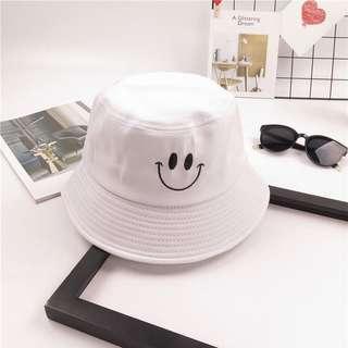 White Smiley Bucket Hat