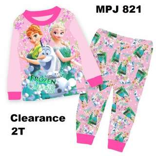 Clearance---  Frozen Long Sleeve Pyjamas