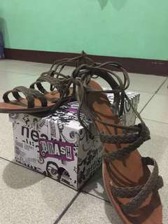Lace up sandals from payless