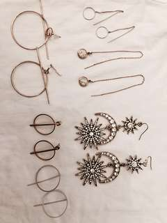 Assorted earrings $10 each