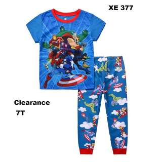 Clearance---  Avengers Short Sleeve Pyjamas