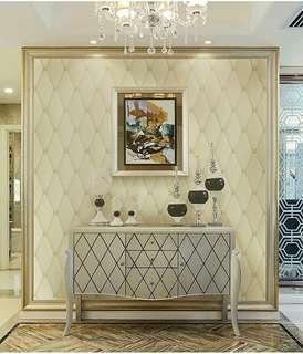 Instock wallpaper 3d cushion wallpaper