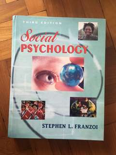 Social Psychology Textbook // Stephen L. Franzoi