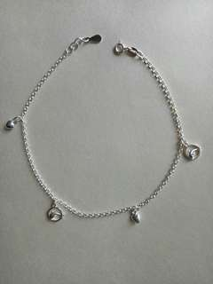 Genuine 925 Italy silver anklet