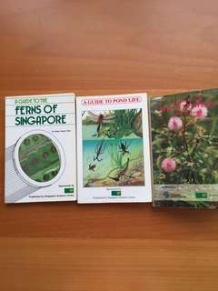 Guides to ferns,pond life and wildflowers of Singapore